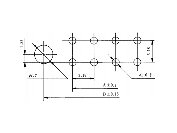 Pin header right-angle type