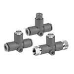 Residual Pressure Release Valve with Single-Action Fitting, KE□ Series