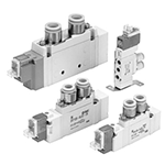 5-Port Solenoid Valve Body Ported Single Unit, SY3000 Series